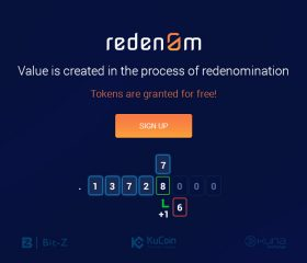 "Today, 1 August 2018, we are launching ""Redenom"""